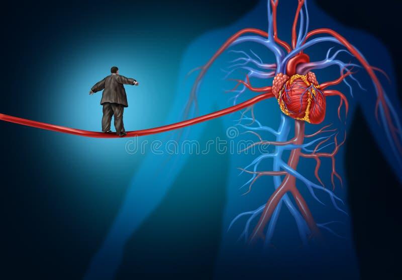 Perigo da doença cardíaca ilustração royalty free
