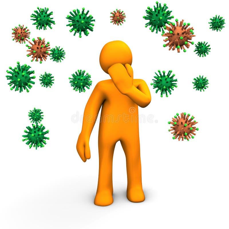Perigo da infecção ilustração royalty free