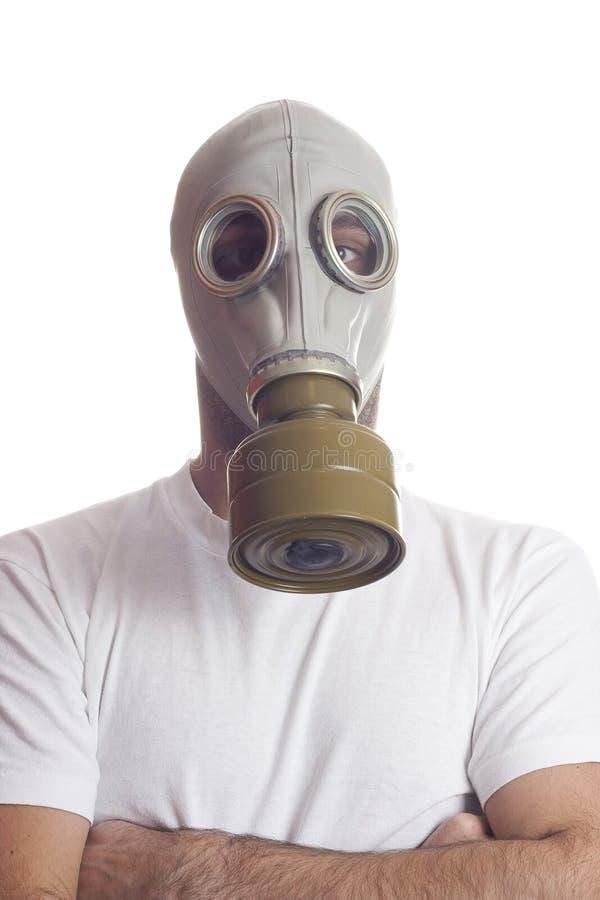 Perigo da máscara de gás imagens de stock royalty free