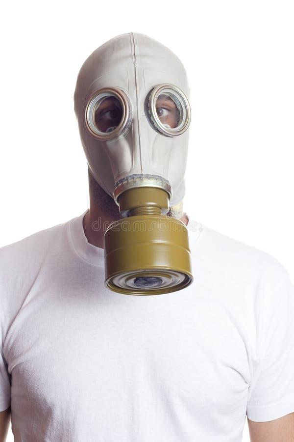 Perigo da máscara de gás imagem de stock