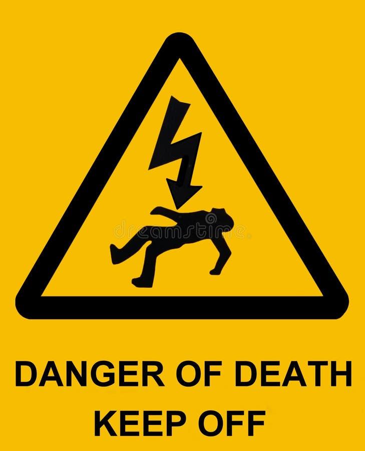 Perigo da morte foto de stock