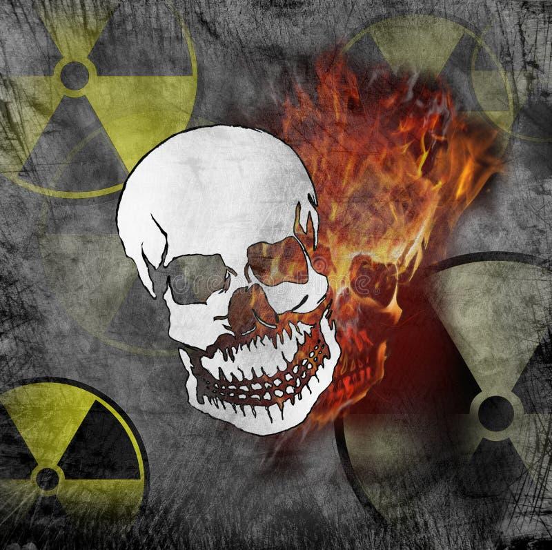 Perigo da radiação imagem de stock royalty free