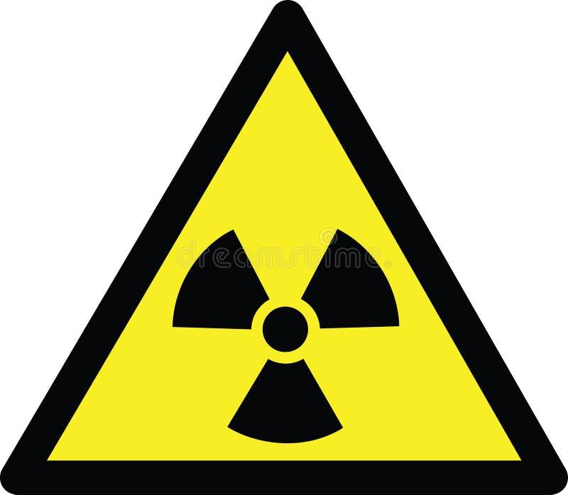 Perigo da radiação ilustração royalty free