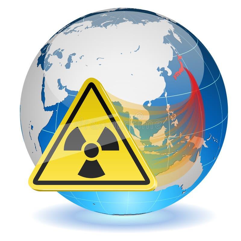 Perigo de radiação ilustração royalty free