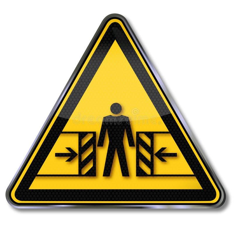 Perigo do esmagamento ilustração stock