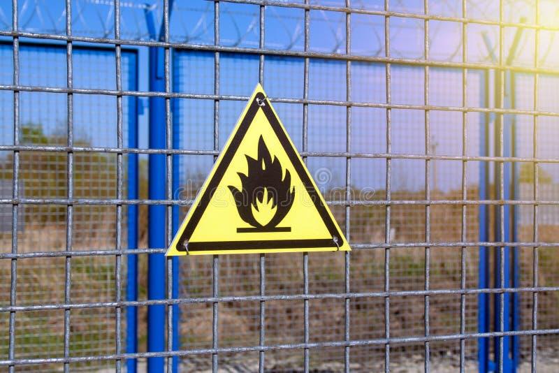 Perigo do fogo fotografia de stock
