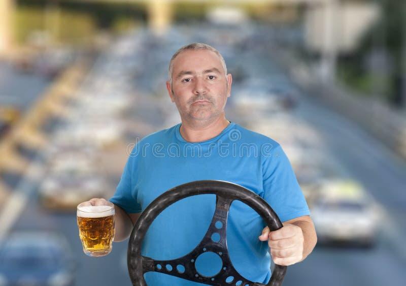 Perigo do motorista fotografia de stock royalty free