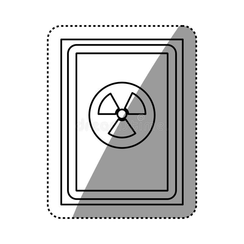 perigo e sinal de aviso ilustração stock