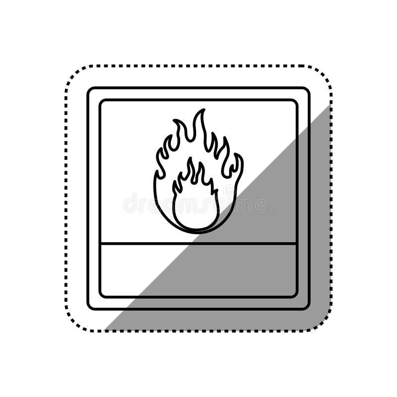 perigo e sinal de aviso ilustração do vetor