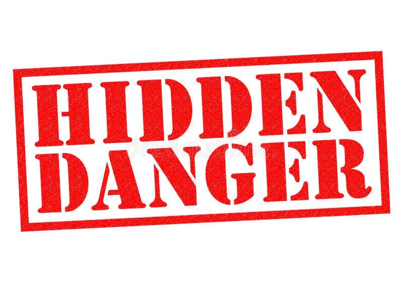 Perigo escondido ilustração stock
