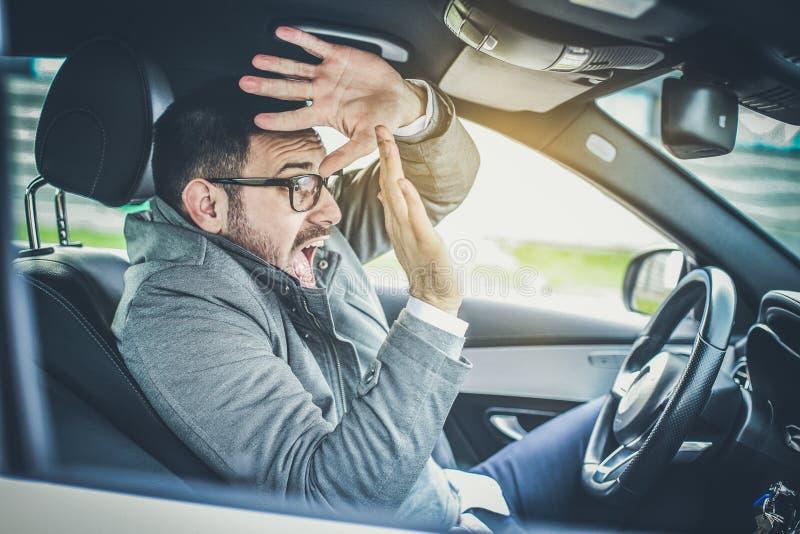 Perigo na estrada imagens de stock