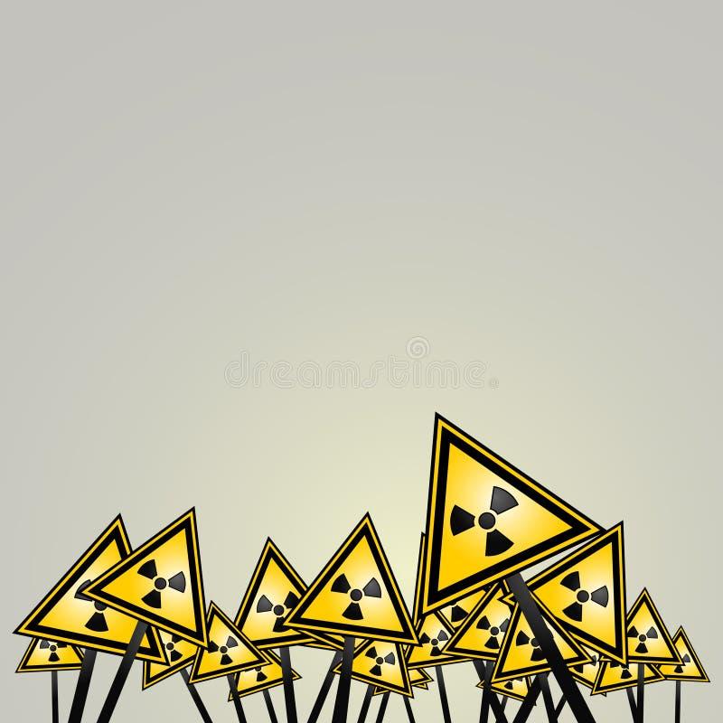 Perigo nuclear ilustração stock