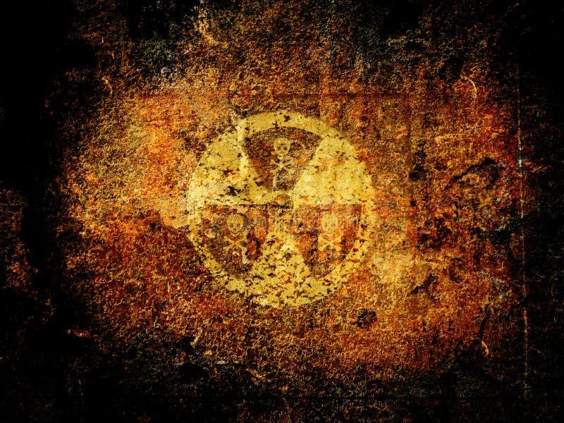 Perigo nuclear ilustração royalty free