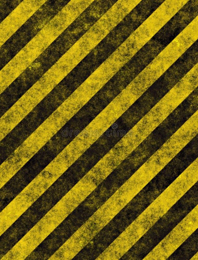 Perigo ou sinal de advertência das listras ilustração do vetor
