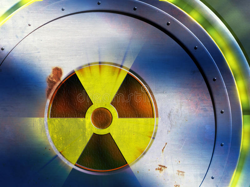 Perigo radioativo ilustração stock