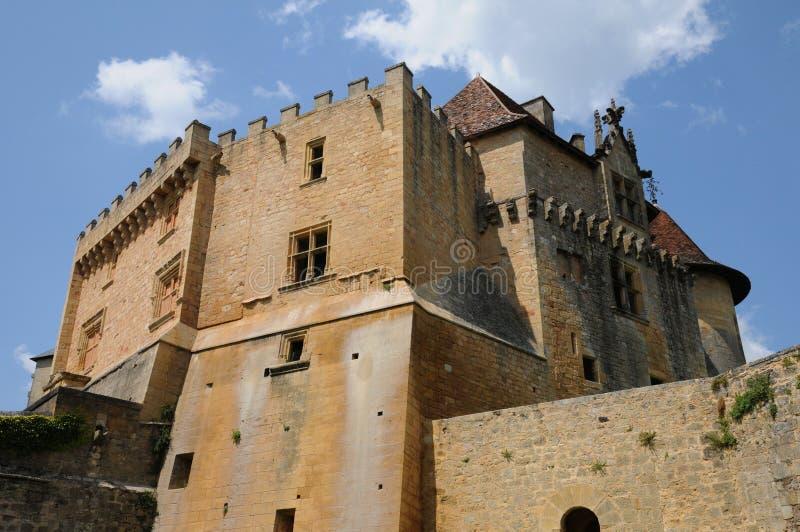 Perigord, το γραφικό κάστρο Biron σε Dordogne στοκ εικόνες με δικαίωμα ελεύθερης χρήσης