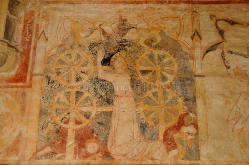 Perigord, chapelle de Cheylat des Genies de saint dans Dordogne photos stock