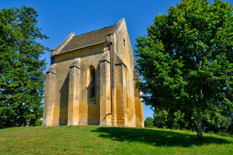 Perigord, Cheylat Świątobliwi Genies w Dordogne kaplica zdjęcie royalty free