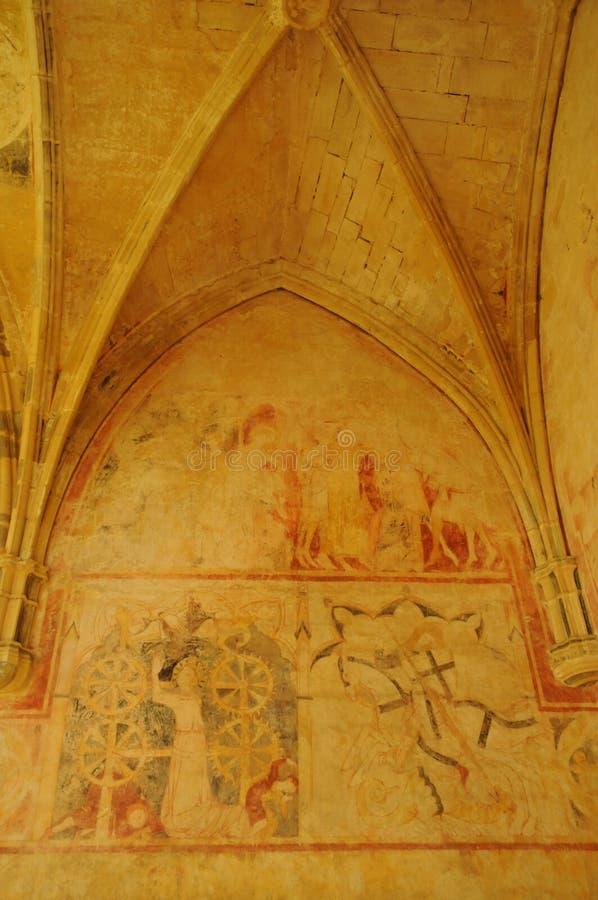 Perigord, Cheylat Świątobliwi Genies w Dordogne kaplica fotografia royalty free