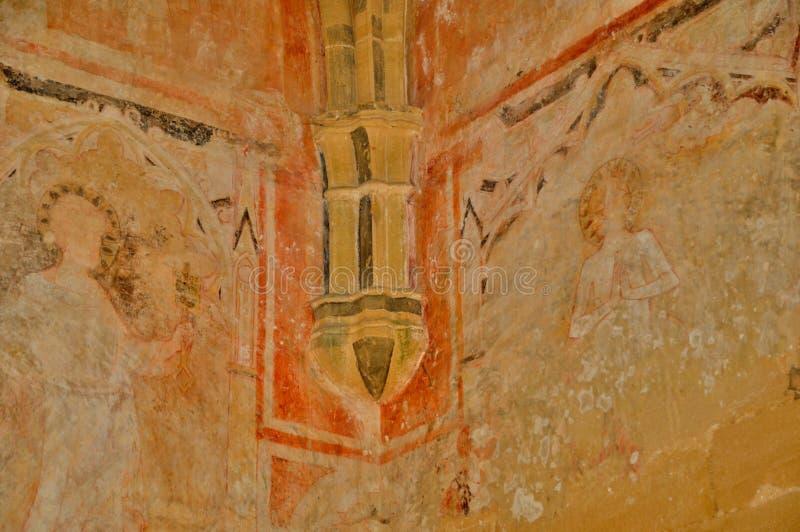 Perigord, Cheylat Świątobliwi Genies w Dordogne kaplica obraz stock