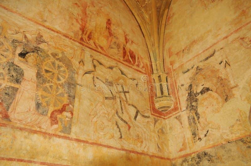 Perigord, Cheylat Świątobliwi Genies w Dordogne kaplica obraz royalty free