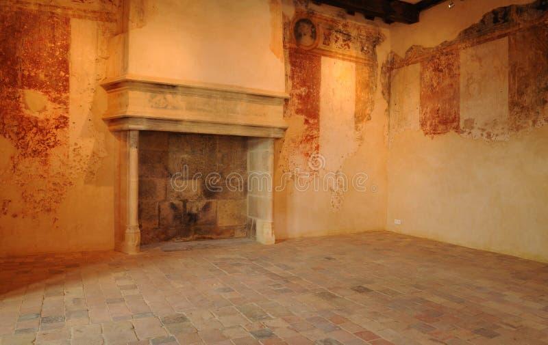 Perigord, het schilderachtige kasteel van Biron in Dordogne royalty-vrije stock fotografie