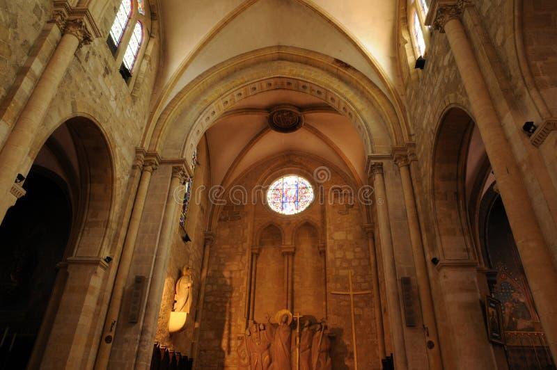 Perigord, a igreja de Jacques de Saint de Bergerac em Dordogne foto de stock