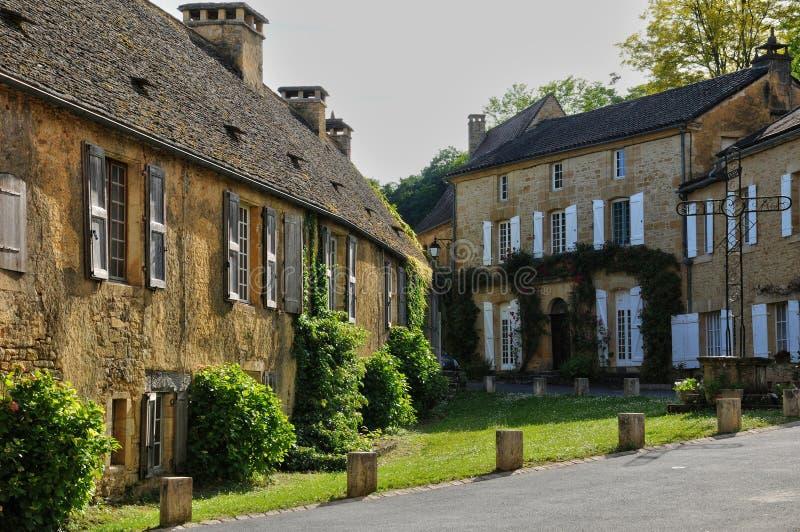 Perigord malownicza wioska Świątobliwi Genies fotografia royalty free