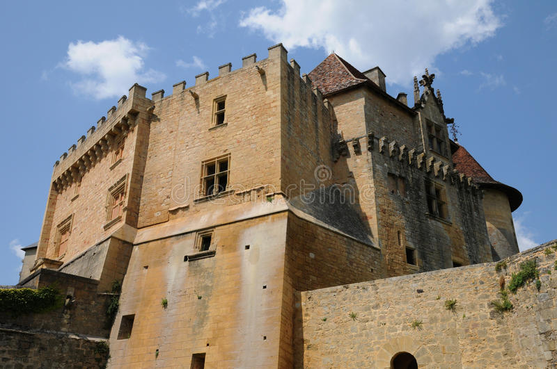 Perigord, the picturesque castle of Biron in Dordogne royalty free stock images