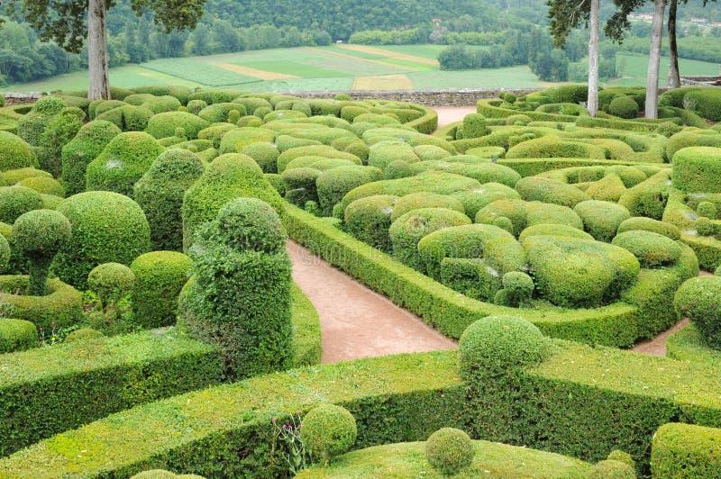 Perigord, the picturesque garden of Marqueyssac in Dordogne. France, the picturesque garden of Marqueyssac in Dordogne stock photos