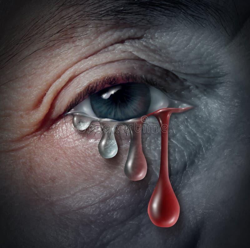 Perigos crescentes da depressão ilustração stock