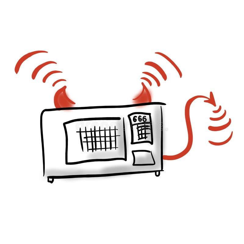 Perigos do forno micro-ondas ilustração royalty free