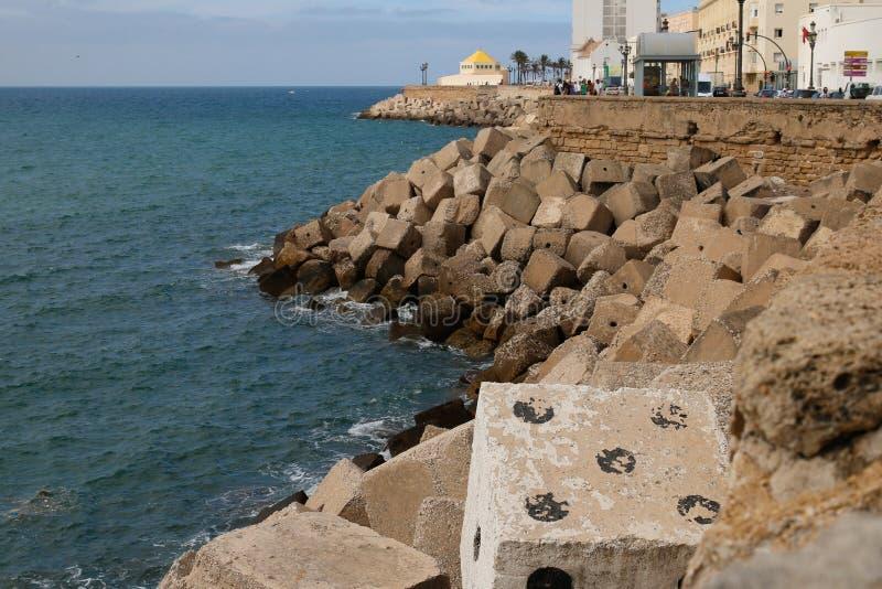 Perigoso em Cadiz fotos de stock royalty free