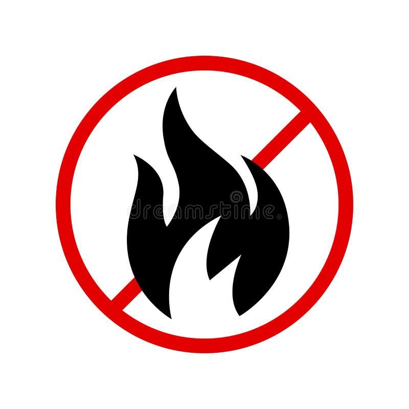 Perigoso, ser cuidadoso, não fazem faíscas ilustração do vetor
