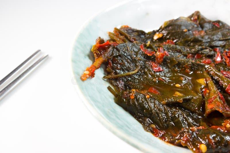 Perilla liścia kimchi obraz stock