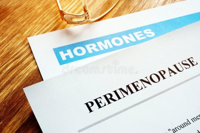 Perimenopause y concepto de la menopausia imagen de archivo libre de regalías