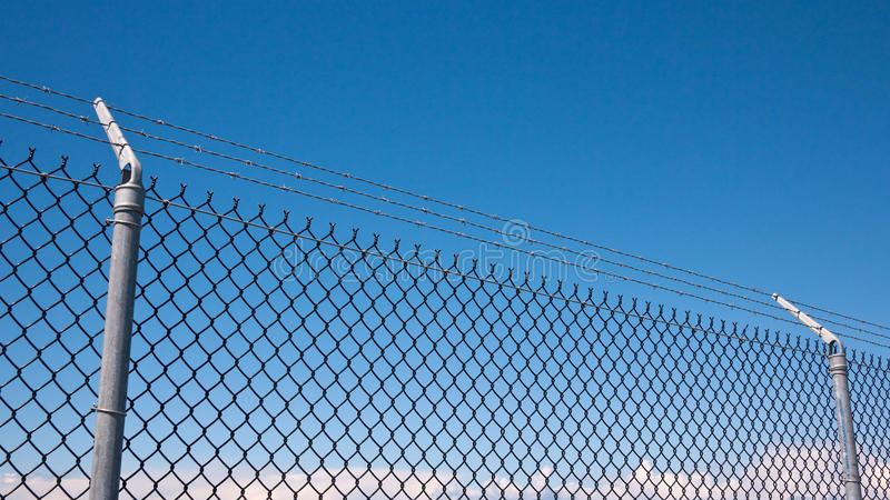 Perimeter fence stock images