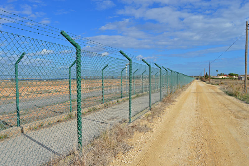 Perimeter High Security Fencing Stock Photo - Image of group, blanca ...