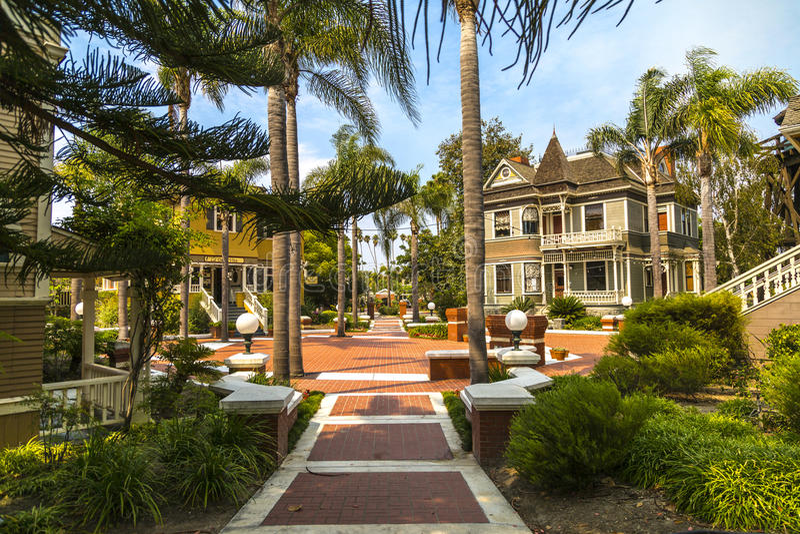 Heritage Square, Oxnard California. Period homes and gardens at Heritage Square in Oxnard, California royalty free stock photos