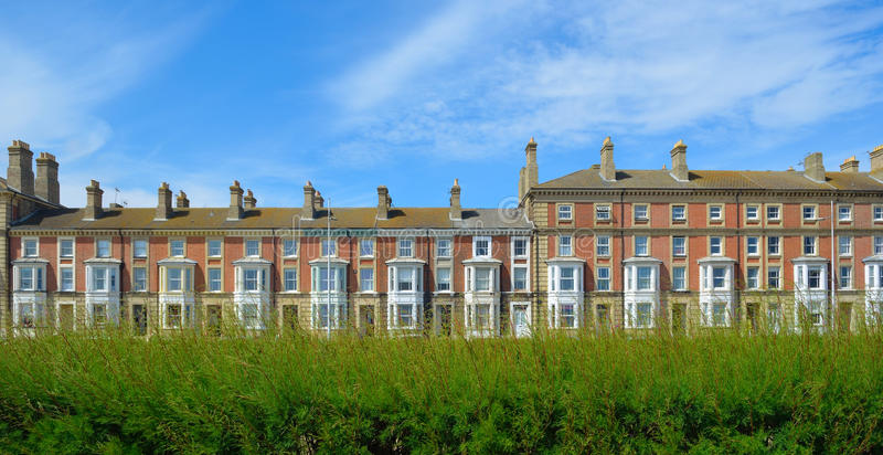 Period seafront properties at Lowestoft. royalty free stock image