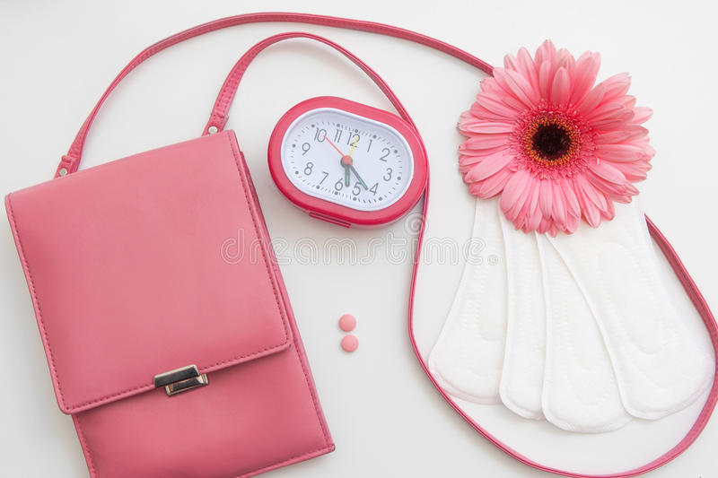 Period time, menstruation control, woman health royalty free stock image