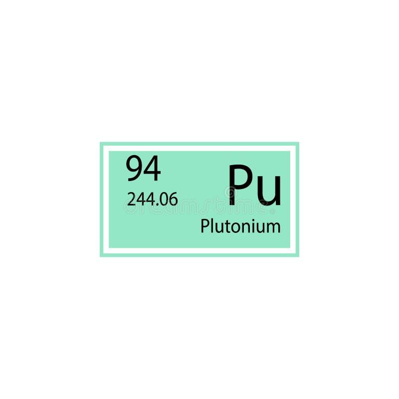 Periodensystemelement-Plutoniumikone Element der chemischen Zeichenikone Erstklassige Qualitätsgrafikdesignikone Zeichen und Symb lizenzfreie abbildung