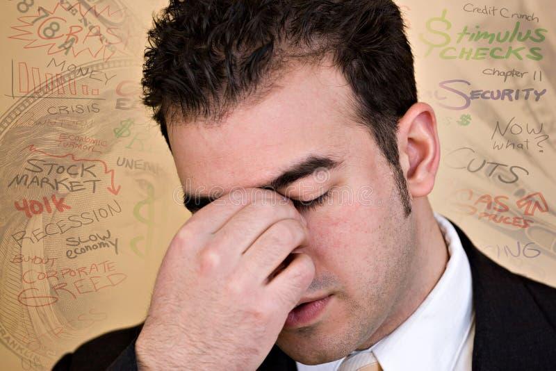 Periodi economici stressanti immagine stock