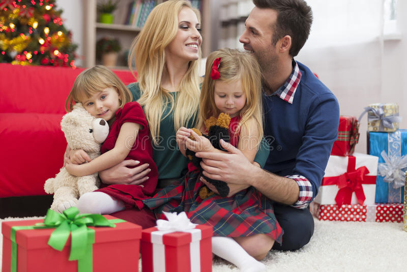 Periodi felici con la famiglia immagini stock