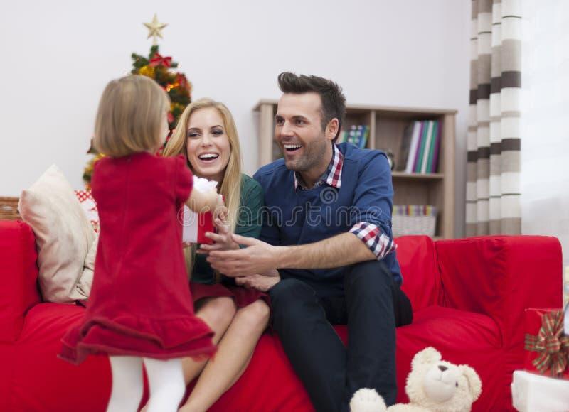 Periodi felici con la famiglia fotografia stock