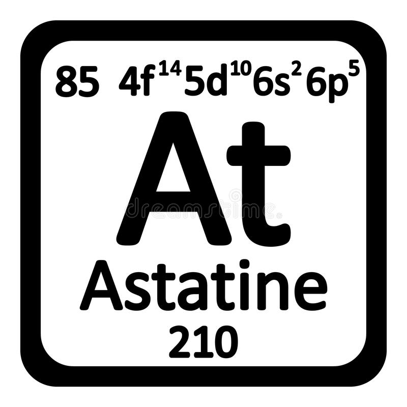Periodic table element astatine icon stock illustration download periodic table element astatine icon stock illustration illustration of physics name urtaz Gallery