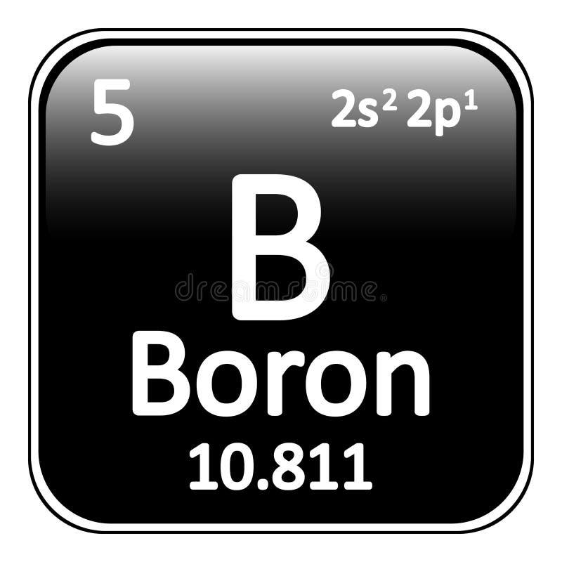 periodic table element boron icon stock illustration