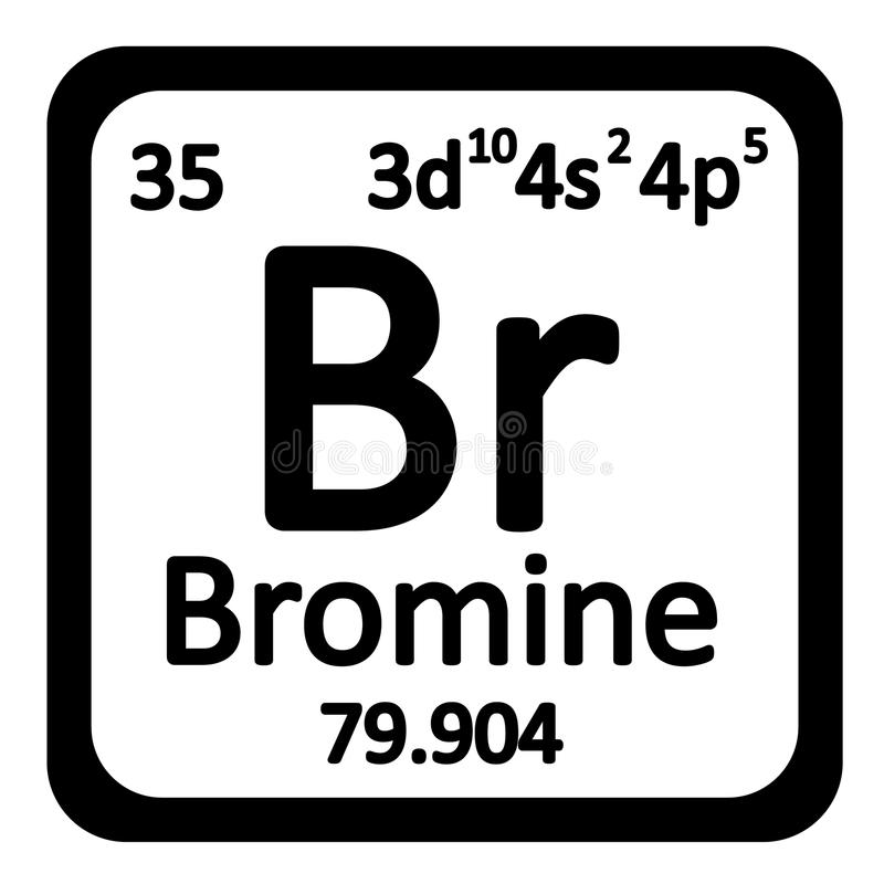 download periodic table element bromine icon stock illustration illustration of name graphic - Bromine Periodic Table Atomic Number