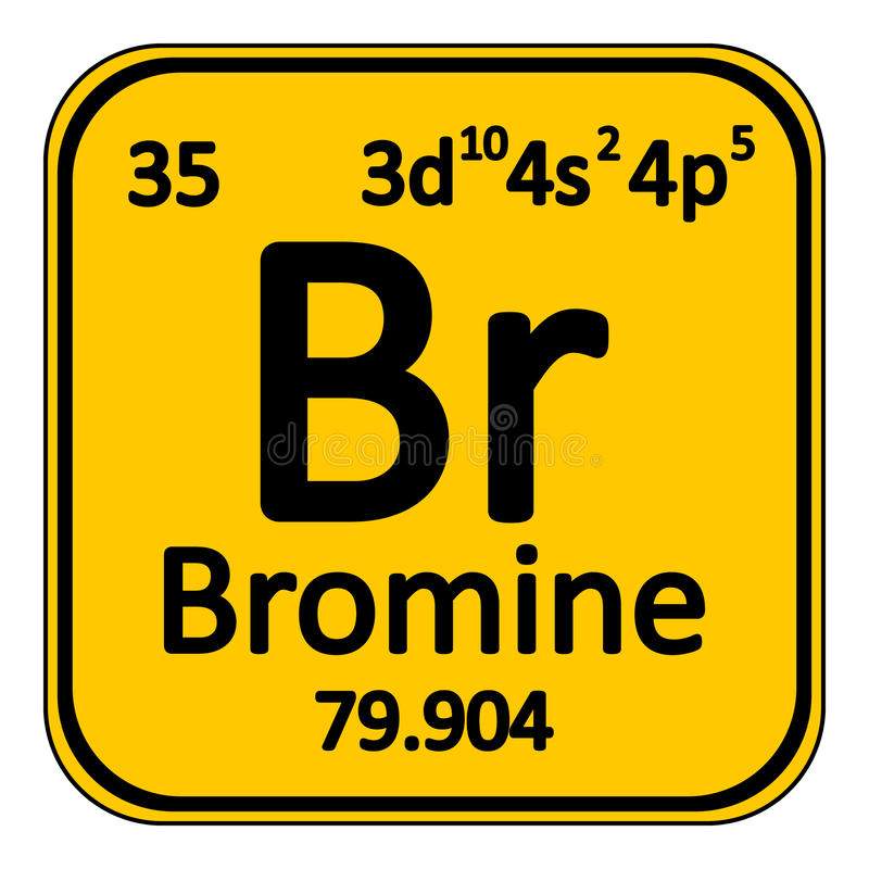 download periodic table element bromine icon stock illustration illustration of element poison - Bromine Periodic Table Atomic Number