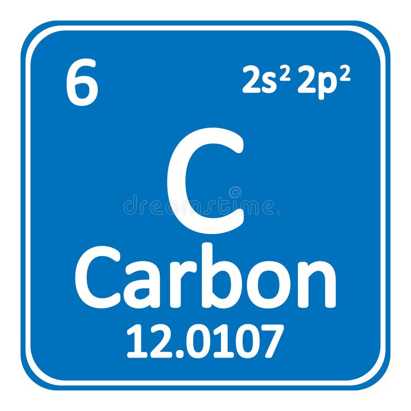 Download Periodic Table Element Carbon Icon. Stock Illustration    Illustration Of Chemical, Graphic: